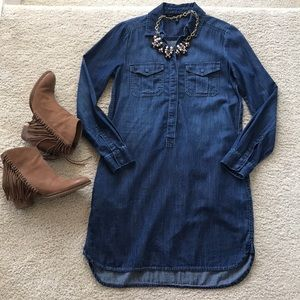 WHBM Denim Tunic Dress